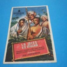 Cine: PROGRAMA DE MANO ORIG - LA MIES ES MUCHA - CON CINE DE PALMA IMPRESO AL DORSO. Lote 263123275