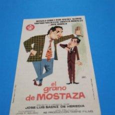 Cine: PROGRAMA DE MANO ORIG - EL GRANO DE MOSTAZA -CINE DE MARTOS IMPRESO AL DORSO. Lote 263123760