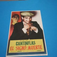 Folhetos de mão de filmes antigos de cinema: PROGRAMA DE MANO ORIG - EL SIGNO DE LA MUERTE - SIN CINE IMPRESO AL DORSO. Lote 263161450