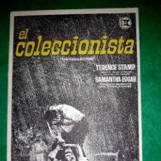 Cine: FOLLETO CINE EL COLECCIONISTA PUBLICIDAD AL DORSO 1965. Lote 263166945