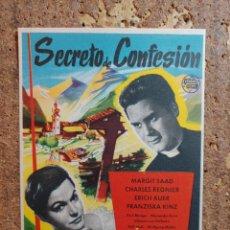 Cine: FOLLETO DE MANO DE LA PELÍCULA SECRETO DE CONFESION. Lote 263168245
