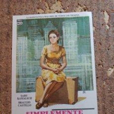 Cine: FOLLETO DE MANO DE LA PELÍCULA SIMPLEMENTE MARIA. Lote 263169785