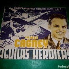Cine: FOLLETO CINE DOBLE AHUILAS HEROICAS.PUBLICIDAD AL DORSO 1936. Lote 263175515