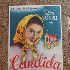 Cine: FOLLETO DE MANO DE LA PELÍCULA CANDIDA CON PUBLICIDAD. Lote 263177930