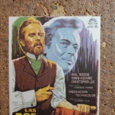 Cine: FOLLETO DE MANO DE LA PELÍCULA LAS DOS CARAS DEL DR. JEKYLL CON PUBLICIDAD. Lote 263182735