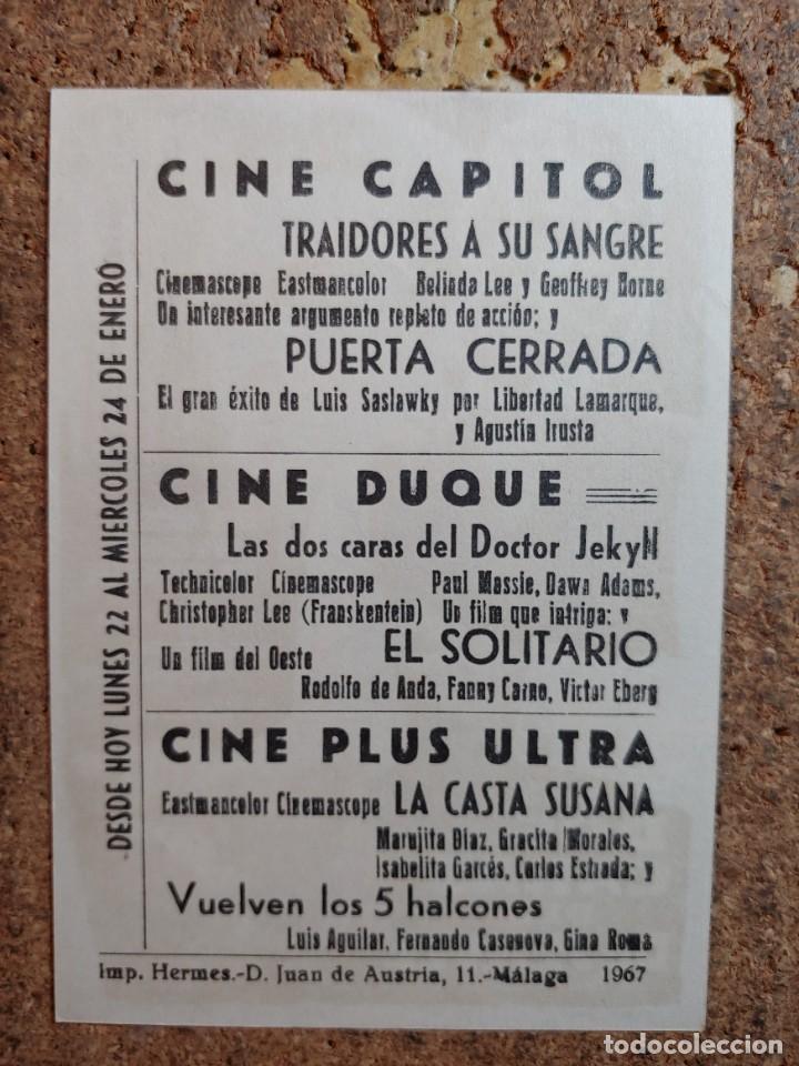 Cine: FOLLETO DE MANO DE LA PELÍCULA LAS DOS CARAS DEL DR. JEKYLL CON PUBLICIDAD - Foto 2 - 263182735