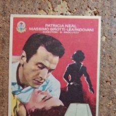 Cine: FOLLETO DE MANO DE LA PELÍCULA TU MUJER CON PUBLICIDAD. Lote 263184410