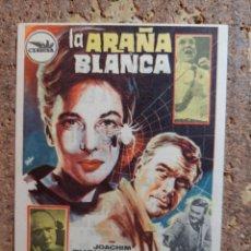 Cine: FOLLETO DE MANO DE LA PELÍCULA LA ARAÑA BLANCA CON PUBLICIDAD. Lote 263184930