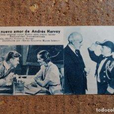 Cine: FOLLETO DE MANO DE LA PELÍCULA UN NUEVO AMOR DE ANDRES HARVEY CON PUBLICIDAD. Lote 263185175