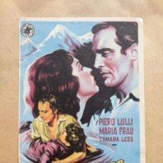 Cine: ODIO EN LAS CUMBRES.. DIBUJO SOLIGO. AÑO 1940-50 VELL I BELL. Lote 263194090