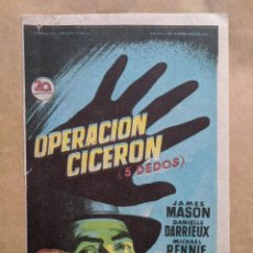 Cine: OPÈRACION CICERON. DIBUJO SOLIGO. AÑO 1940-50 VELL I BELL. Lote 263194280