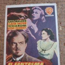 Cine: FOLLETO DE MANO DE LA PELICULA EL FANTASMA DE LA CALLE MORGUE CON PUBLICIDAD. Lote 263534765