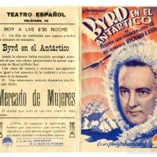 Folhetos de mão de filmes antigos de cinema: BYRD EN EL ATLÁNTICO.. Lote 264091325