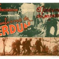 Folhetos de mão de filmes antigos de cinema: EL INFIERNO DE VERDUN.. Lote 264273124
