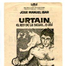 Flyers Publicitaires de films Anciens: URTAIN, EL REY DE LA SELVA O ALGO ASÍ.. Lote 264352034