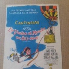 Folhetos de mão de filmes antigos de cinema: CANTINFLAS LA VUELTA AL.MUNDO EN 80 DIAS. Lote 264488784