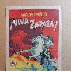 Cine: FOLLETO DE MANO DE LA PELÍCULA VIVA ZAPATA CON PUBLICIDAD. Lote 264528374