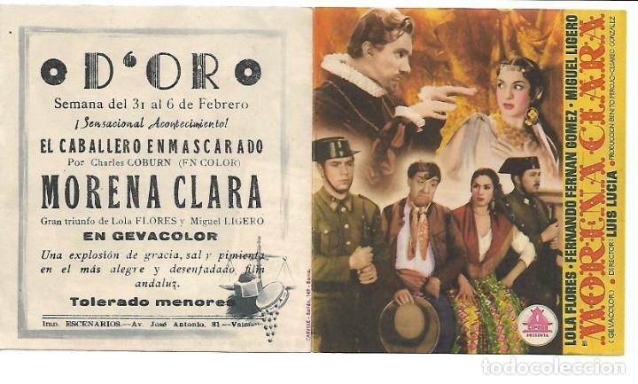 PROGRAMA DE CINE DOBLE - CON PUBLICIDAD (Cine - Folletos de Mano - Comedia)