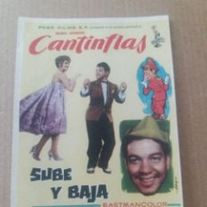 Folhetos de mão de filmes antigos de cinema: CANTINFLAS SUBE Y BAJA. Lote 264755109