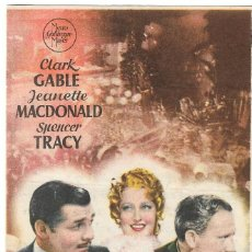 Folhetos de mão de filmes antigos de cinema: PN - PROGRAMA DE CINE - SAN FRANCISCO - CLARK GABLE, JEANETTE MACDONALD - PRINCIPAL CINEMA (MÁLAGA). Lote 264767914
