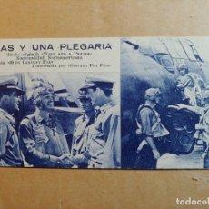 Cine: FOLLETO DE MANO DE LA PELÍCULA ALAS Y UNA PLEGARIA CON PUBLICIDAD. Lote 264789309