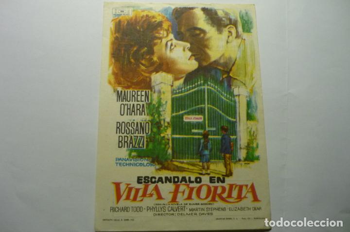 PROGRAMA EL ESCANDALO EN VILLA FLORITA-MAUREN O´HARA PUBLICIDAD (Cine - Folletos de Mano - Comedia)