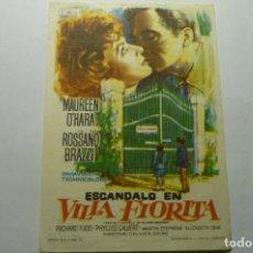 Cine: PROGRAMA EL ESCANDALO EN VILLA FLORITA-MAUREN O´HARA PUBLICIDAD. Lote 264849214