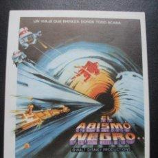 Folhetos de mão de filmes antigos de cinema: EL ABISMO NEGRO, MAXIMILIAN SCHELL, DISNEY. Lote 265191894