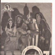 Folhetos de mão de filmes antigos de cinema: AMG-1079 PROGRAMA DE MANO EL MAGO DE OZ. Lote 265204854
