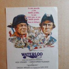 Cine: FOLLETO DE MANO DE LA PELÍCULA WATERLO. Lote 265483034