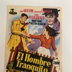 Cine: EL HOMBRE TRANQUILO - SENCILLO - PUBLICIDAD SALÓN SIGLO XX. Lote 265515614