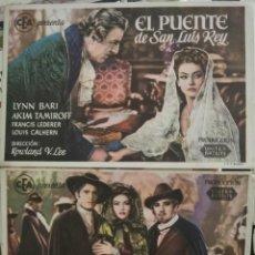 Folhetos de mão de filmes antigos de cinema: EL PUENTE DE SAN LUIS REY. Lote 265549629