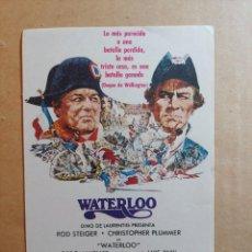 Cine: FOLLETO DE MANO DE LA PELÍCULA WATERLOO. Lote 265707014