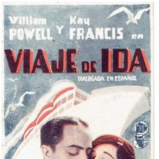 Cine: VIAJE DE IDA. Lote 265783914