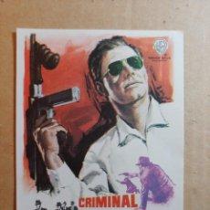 Cine: FOLLETO DE MANO DE LA PELÍCULA CRIMINAL ACORRALADO FBI. Lote 265952468