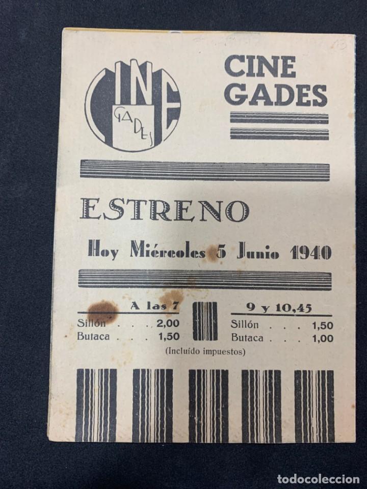 Cine: MILLONARIO A SUELDO - DOBLE - PUBLICIDAD CINE GADES - Foto 3 - 266111023