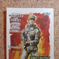 Folhetos de mão de filmes antigos de cinema: FOLLETO DE MANO DE LA PELÍCULA NO HAY TIEMPO PARA MORIR CON PUBLICIDAD. Lote 266129543