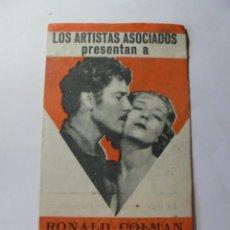 Folhetos de mão de filmes antigos de cinema: MAGNIFICO ANTIGUO PROGRAMA DE CINE DOBLE VENGANZA GITANA. Lote 266349383