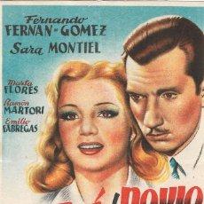 Folhetos de mão de filmes antigos de cinema: PN - PROGRAMA DE CINE - SE LE FUE EL NOVIO - SARA MONTIEL, F.F. GÓMEZ - PRINCIPAL CINEMA (MÁLAGA). Lote 266477168