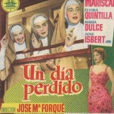 Folhetos de mão de filmes antigos de cinema: PN - PROGRAMA DOBLE - UN DÍA PERDIDO - ANA MARISCAL, ELVIRA QUINTILLA - PRINCIPAL CINEMA (MÁLAGA). Lote 266557118