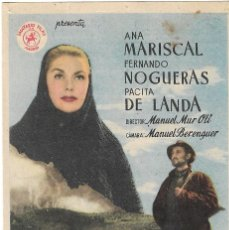 Folhetos de mão de filmes antigos de cinema: PN - PROGRAMA DE CINE - UN HOMBRE VA POR EL CAMINO - ANA MARISCAL - PRINCIPAL CINEMA (MÁLAGA) - 1953. Lote 266568288