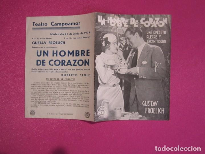 Cine: UN HOMBRE DE CORAZON GUSTAV FROELICH PROGRAMA CINE C2 - Foto 3 - 80979596