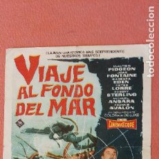 Folhetos de mão de filmes antigos de cinema: VIAJE AL FONDO DEL MAR. WALTER PIDGEON.. Lote 266858914
