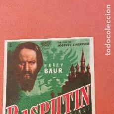 Folhetos de mão de filmes antigos de cinema: RASPUTIN. HARRY BAUR.. Lote 266859969