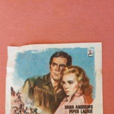 Folhetos de mão de filmes antigos de cinema: CARA A LA MUERTE. DANA ANDREWS.. Lote 266860309