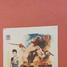 Folhetos de mão de filmes antigos de cinema: EL TERROR DE LOS BARBAROS. STEVE REEVES.. Lote 266860439