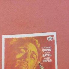 Folhetos de mão de filmes antigos de cinema: ZORBA EL GRIEGO. ANTHONY QUINN. ALAN BATES.. Lote 266862364