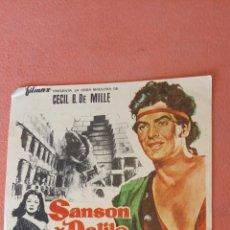 Folhetos de mão de filmes antigos de cinema: SANSON Y DALILA. HEDY LAMARR. VICTOR MATURE.. Lote 266867049