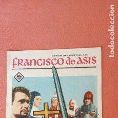 Folhetos de mão de filmes antigos de cinema: FRANCISCO DE ASIS. DOLORES HART. BRANDFORD DILLMAN.. Lote 266868659