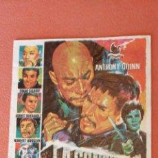 Folhetos de mão de filmes antigos de cinema: LA CONQUISTA DE UN IMPERIO. ELSA MARTINELLI. ROBERT HOSSEIN.. Lote 266870749